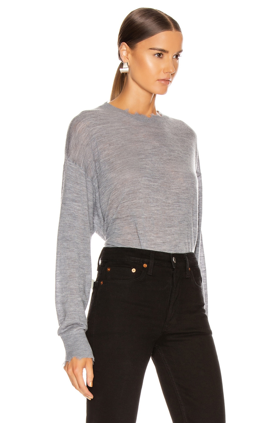 Image 2 of IRO Brattle Sweater in Mixed Grey