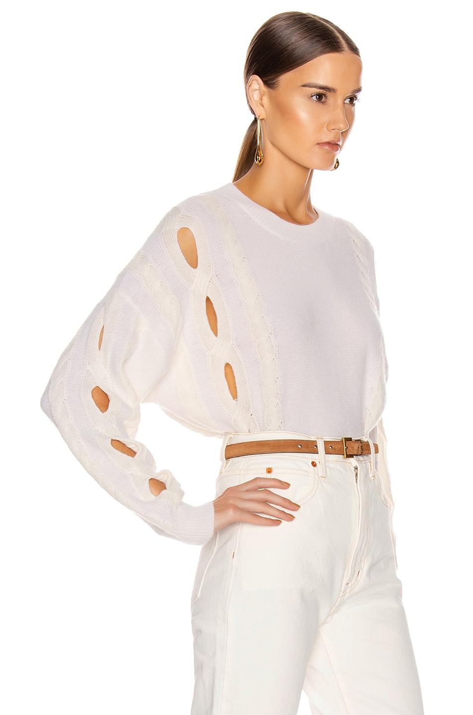 Image 2 of IRO Booker Sweater in Ecru & White