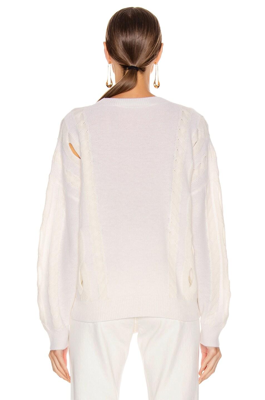Image 3 of IRO Booker Sweater in Ecru & White