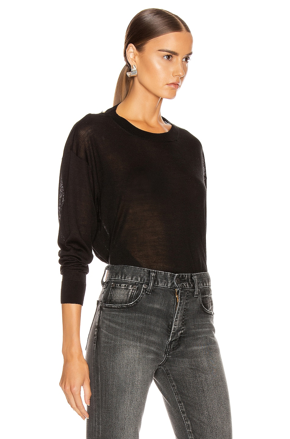 Image 3 of IRO Ladson Sweater in Black