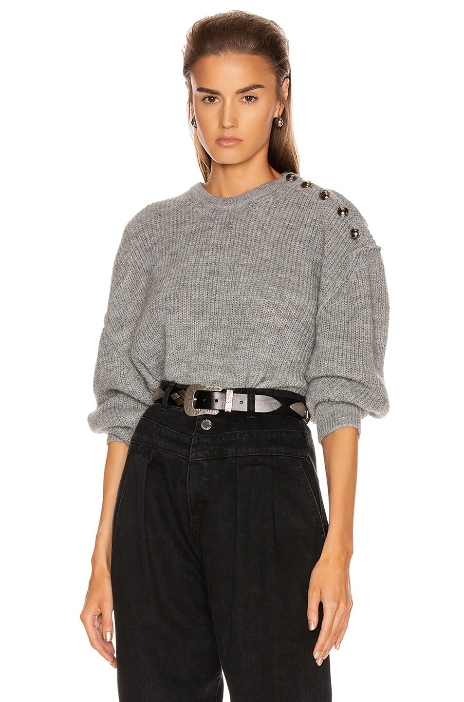 Image 1 of IRO Holmes Sweater in Mixed Grey