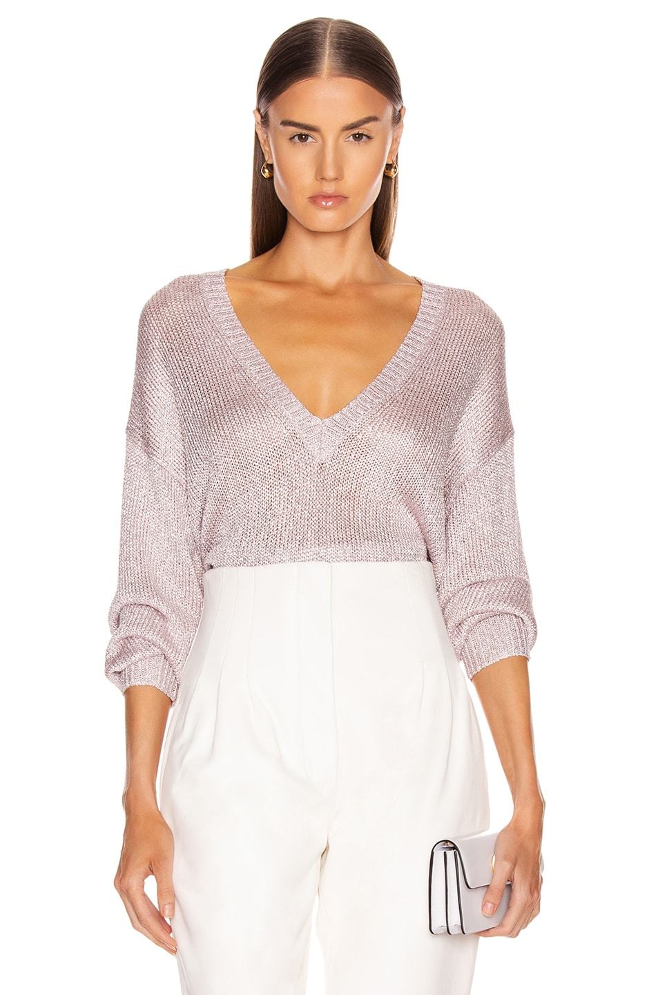 Image 1 of IRO Nanga Sweater in Pink Silver