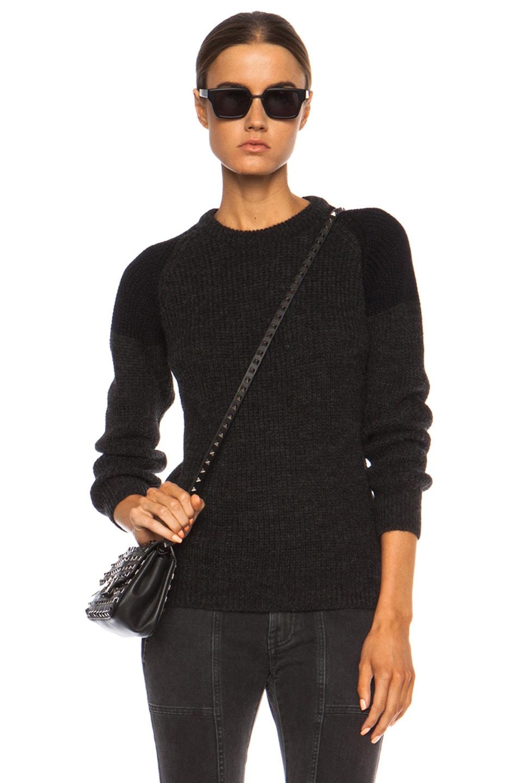 Image 1 of IRO Piper Acrylic-Blend Sweater in Dark Grey