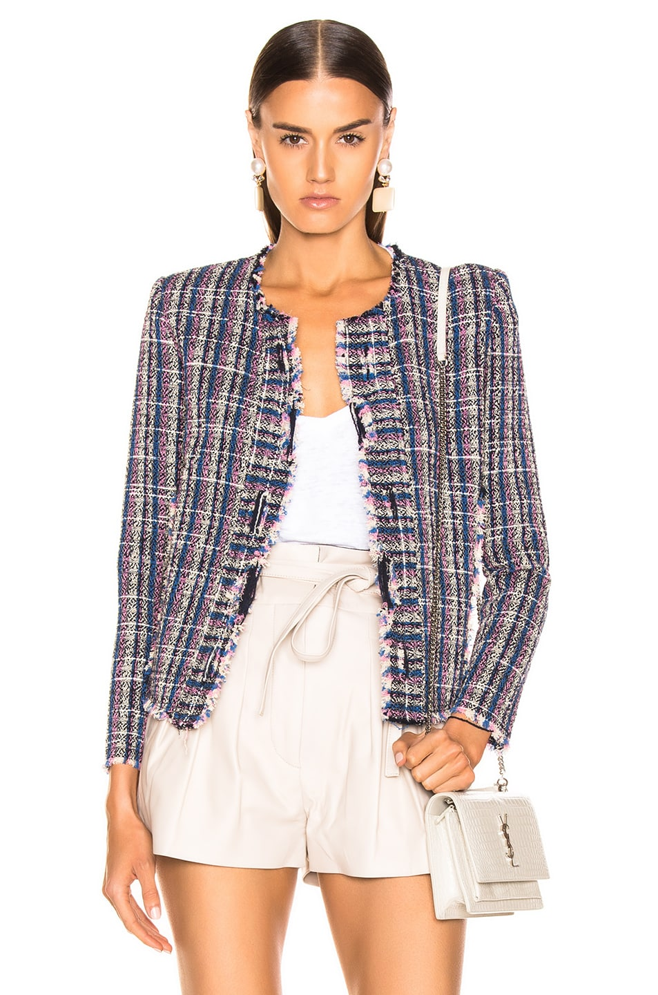 Image 1 of IRO Frannie Jacket in Blue
