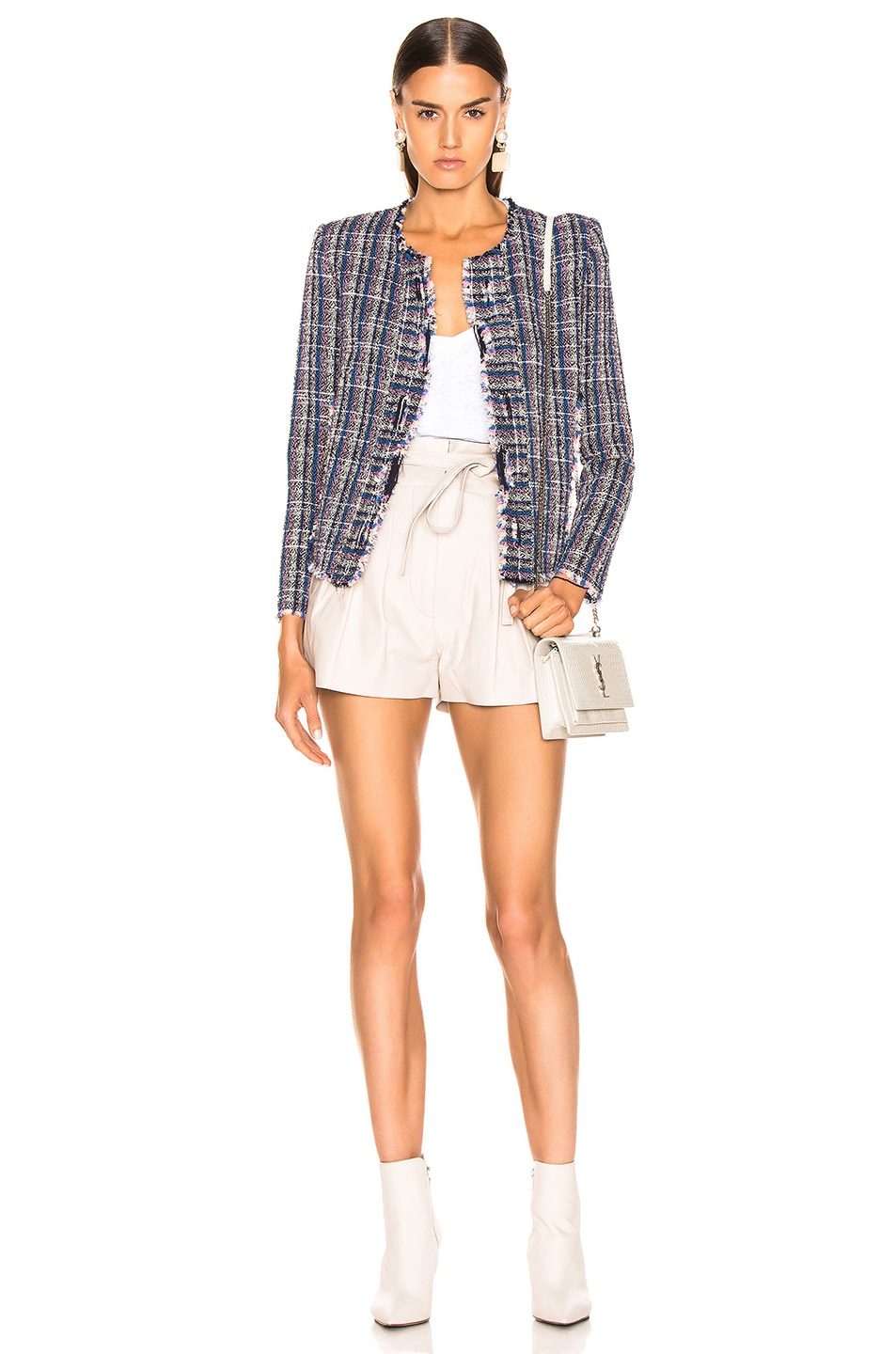 Image 4 of IRO Frannie Jacket in Blue
