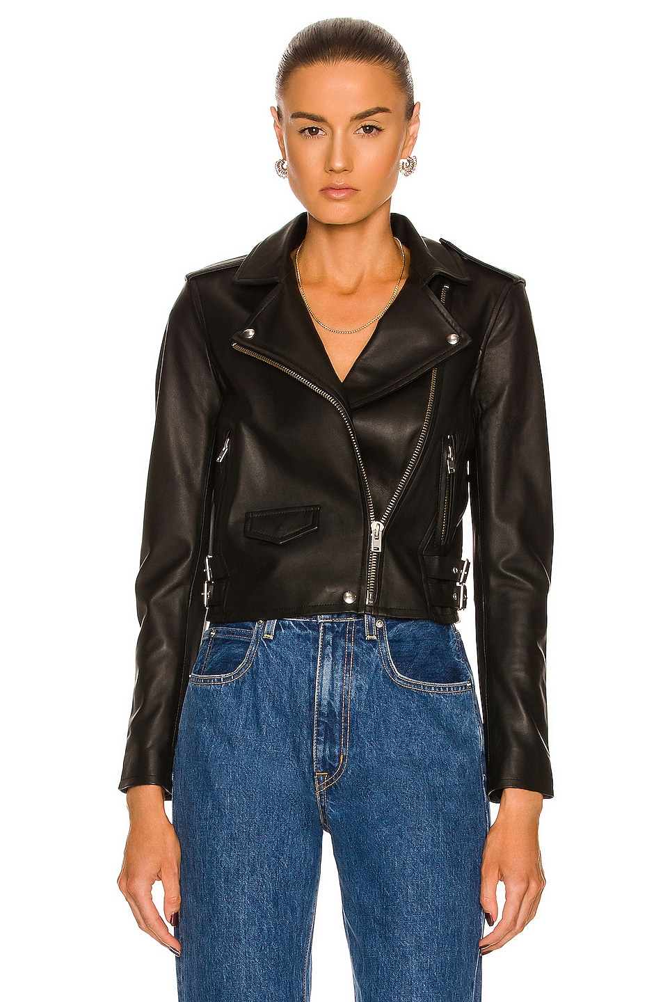 Image 2 of IRO Ashville Leather Moto Jacket in Black
