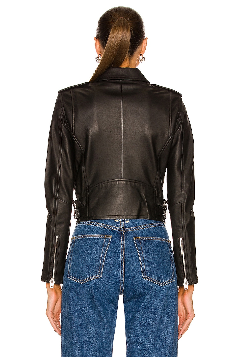 Image 4 of IRO Ashville Leather Moto Jacket in Black