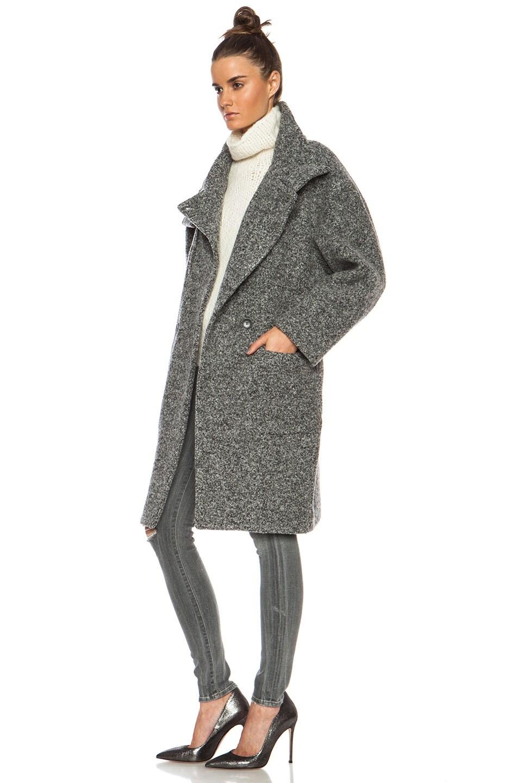 Image 3 of IRO Aylina Wool-Blend Jacket in Mixed Grey