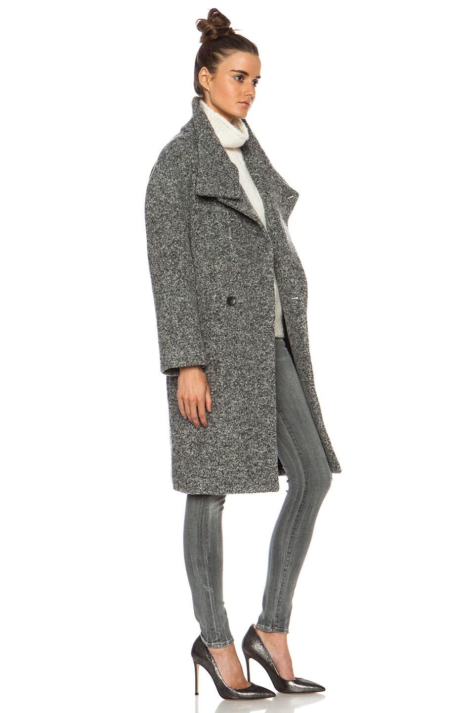 Image 4 of IRO Aylina Wool-Blend Jacket in Mixed Grey