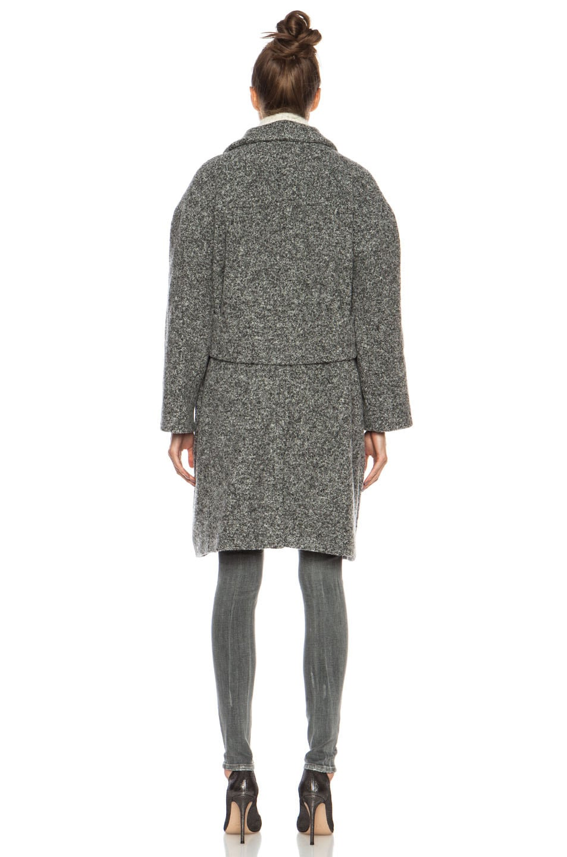 Image 5 of IRO Aylina Wool-Blend Jacket in Mixed Grey