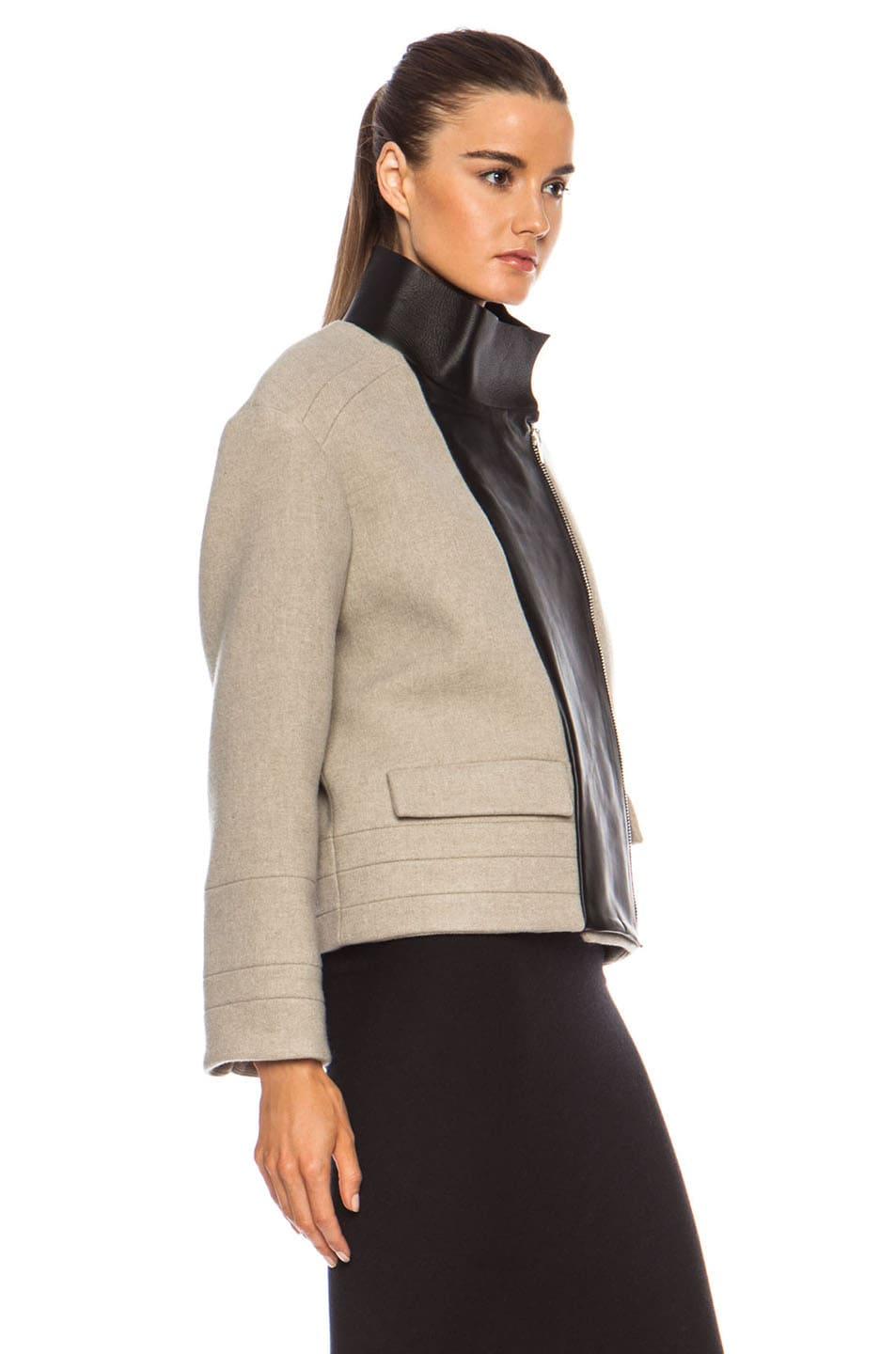Image 4 of IRO Carson Jacket in Beige