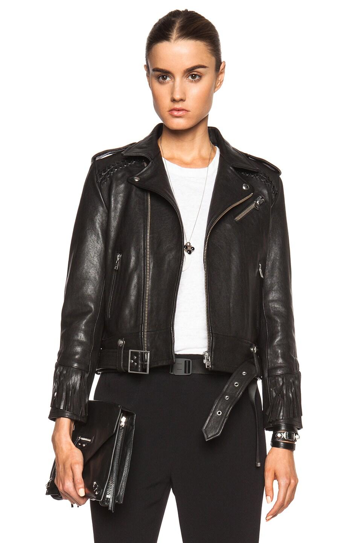 Leather jacket with fringe - Image 1 Of Iro Zerignola Fringe Leather Jacket In Black