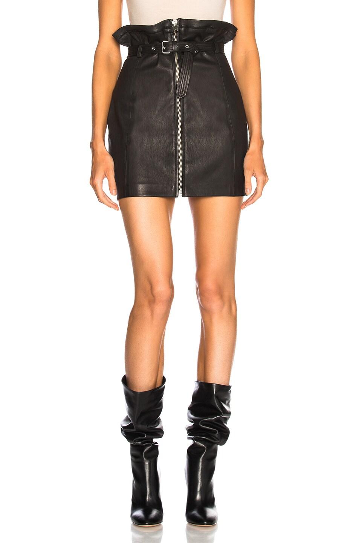 9ca0c1072 Image 1 of IRO Hexim Leather Skirt in Black