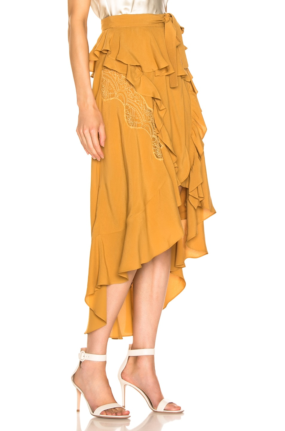 Image 2 of IRO Breathed Skirt in Beige