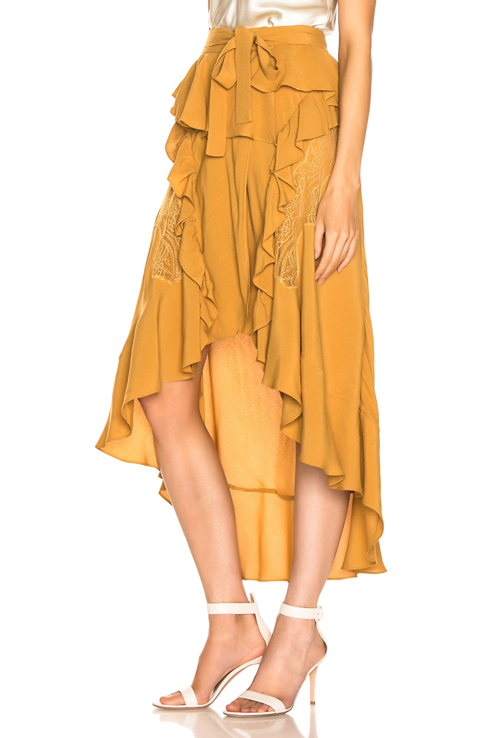 Image 3 of IRO Breathed Skirt in Beige
