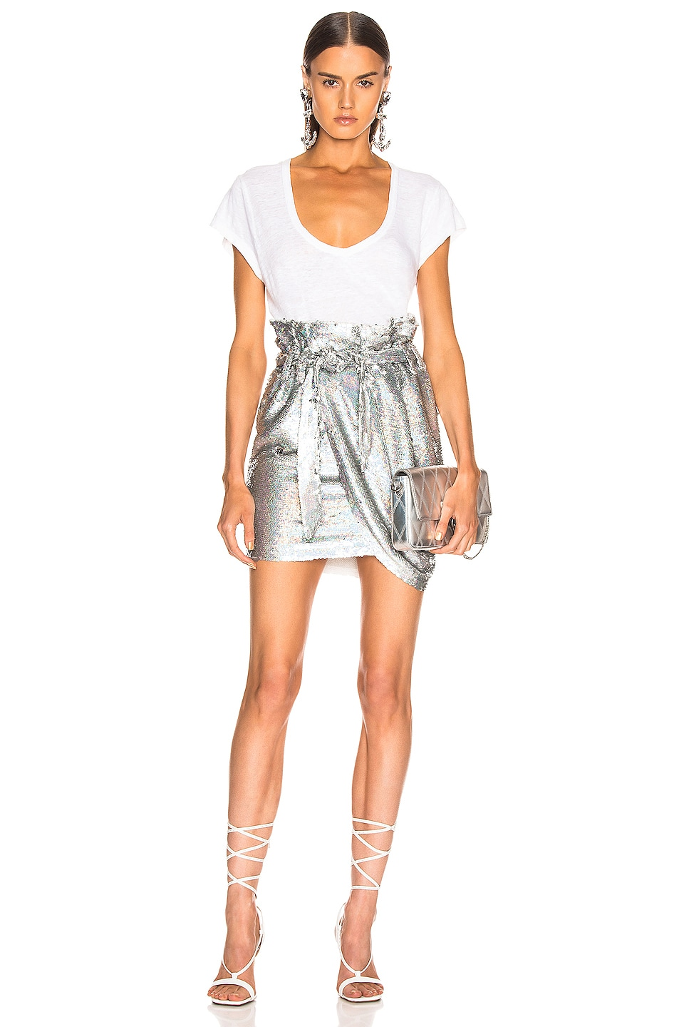 Image 5 of IRO Mahont Skirt in Silver