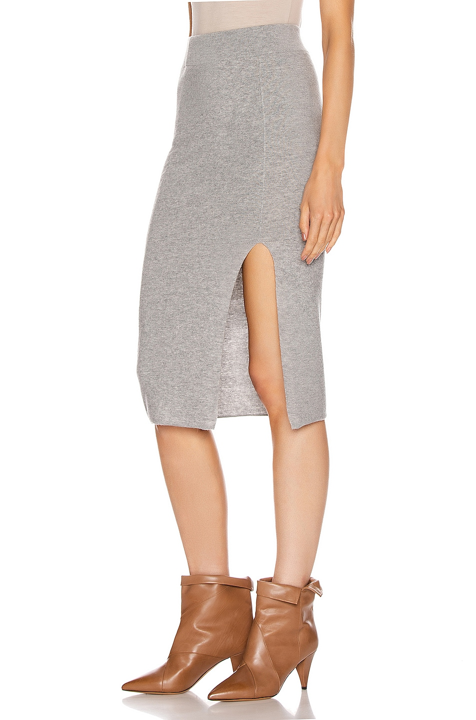 Image 3 of IRO Dorset Skirt in Mixed Grey
