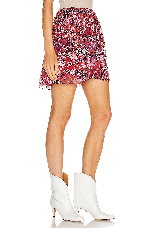 Image 2 of IRO Tingo Skirt in Cranberry