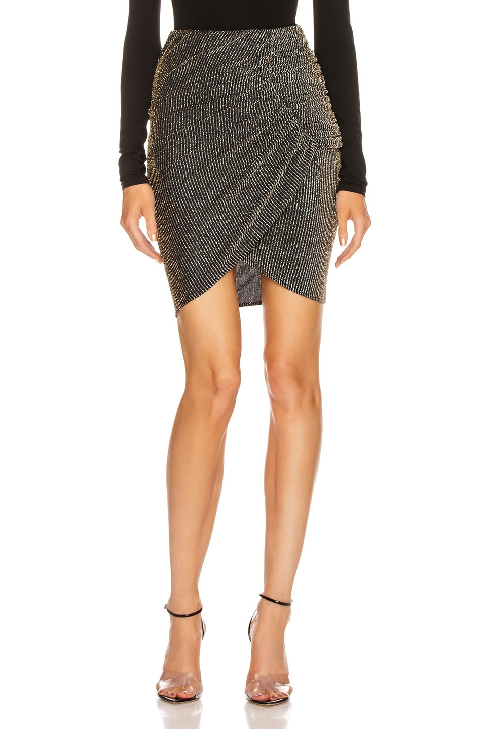 Image 1 of IRO Tacite Skirt in Black & Silver