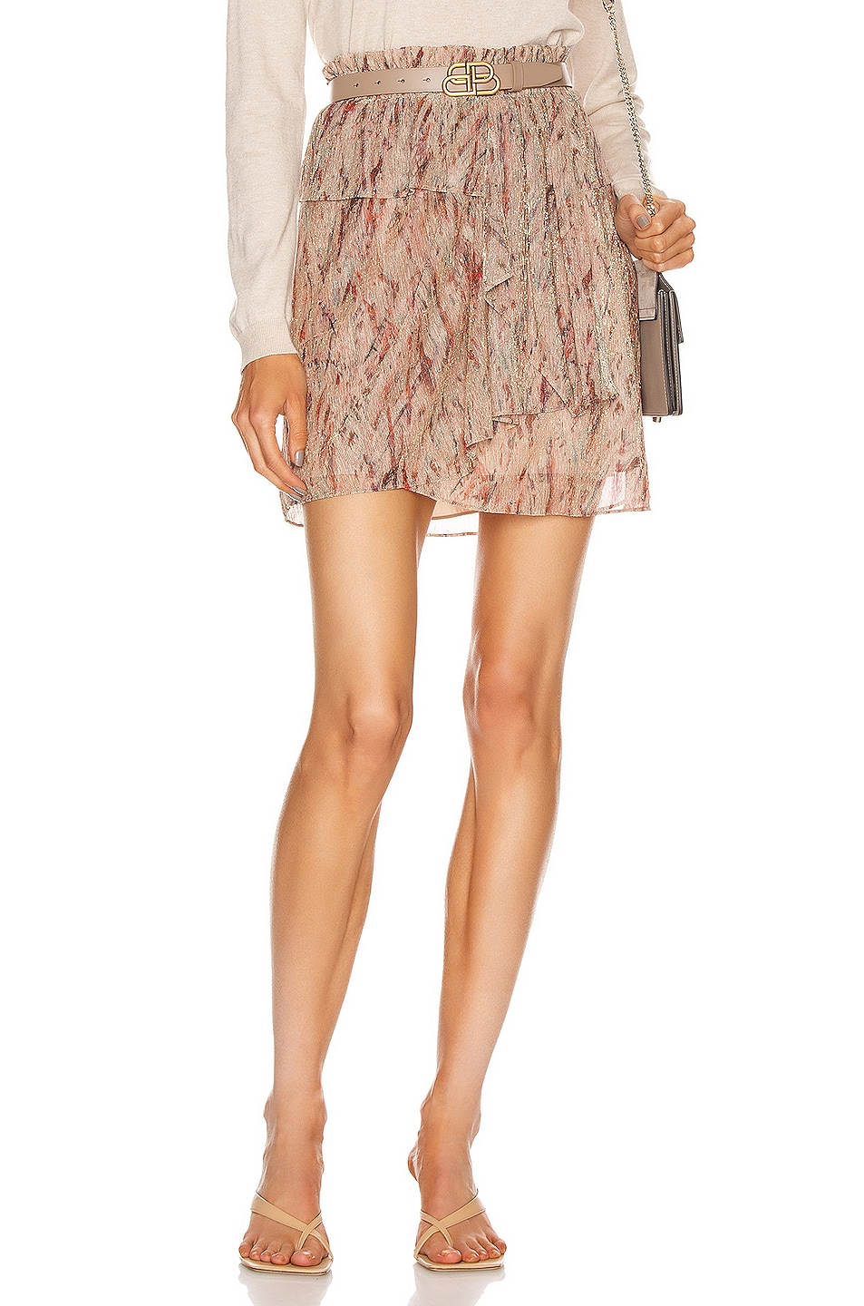 Image 1 of IRO Joucas Skirt in Light Pink
