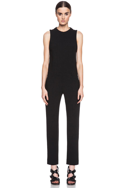 Image 1 of IRO Gennia Acetate-Blend Jumpsuit in Black