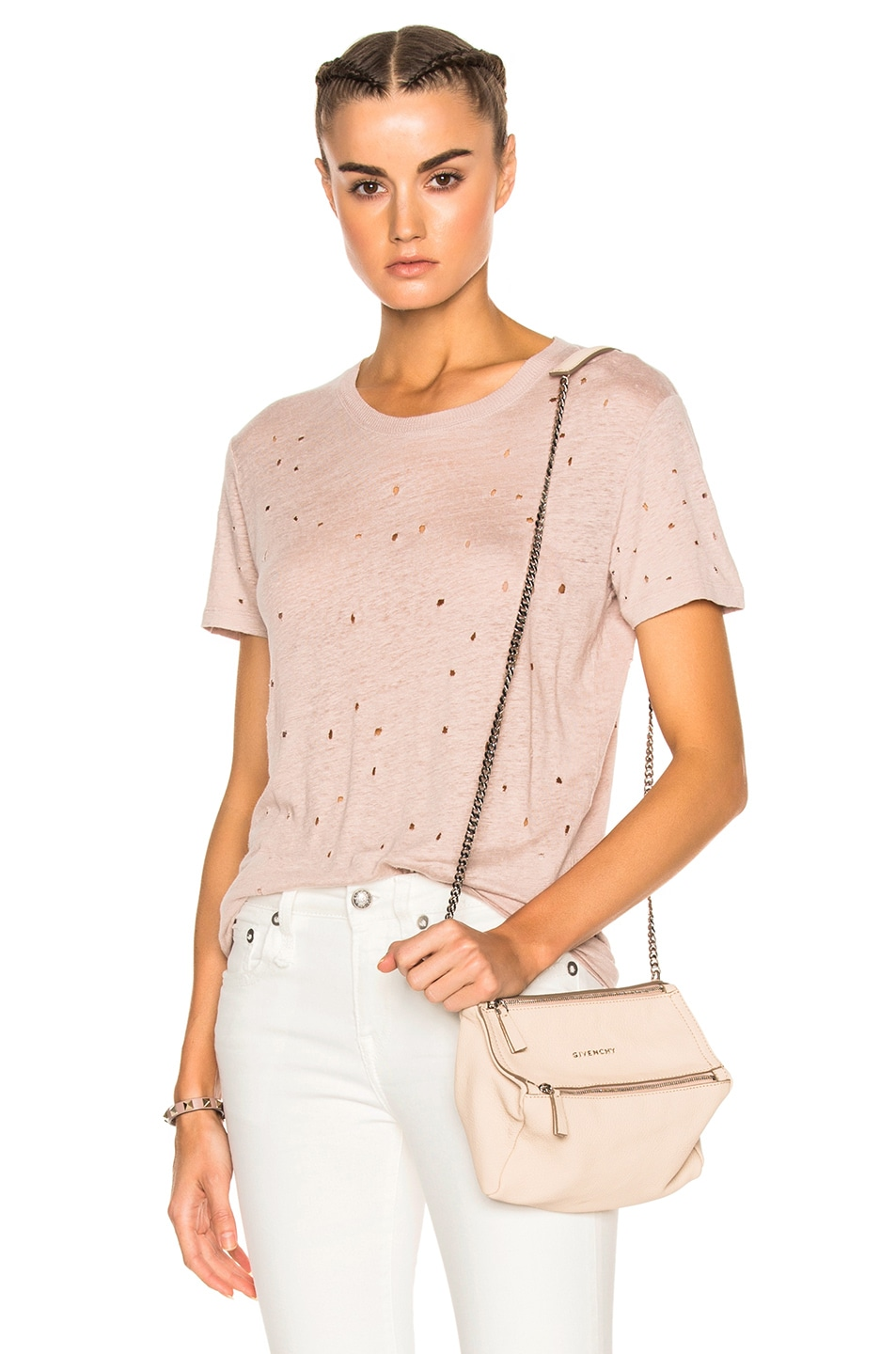 Image 1 of IRO Clay Tee Shirt in Pink Sand