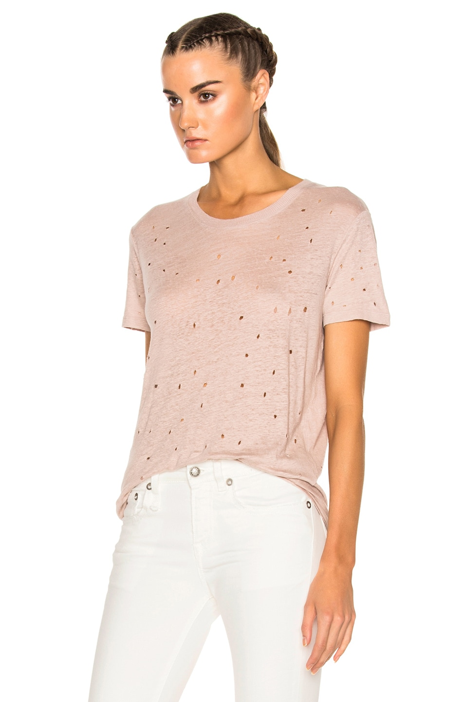 Image 2 of IRO Clay Tee Shirt in Pink Sand