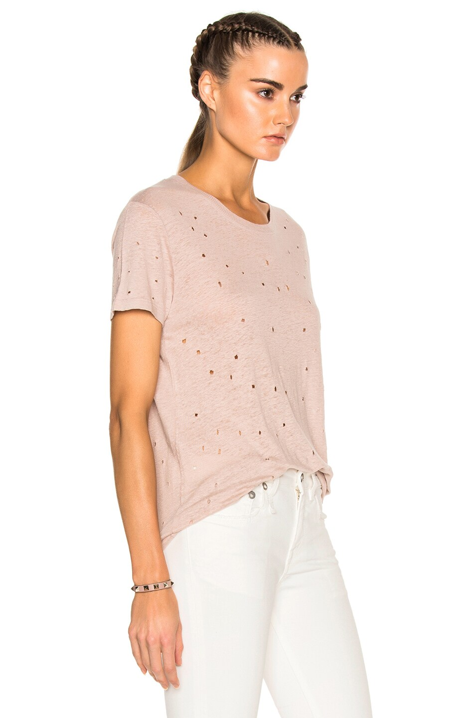 Image 3 of IRO Clay Tee Shirt in Pink Sand
