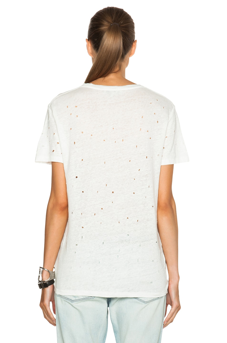 Image 4 of IRO Clay Linen Tee in Ivory