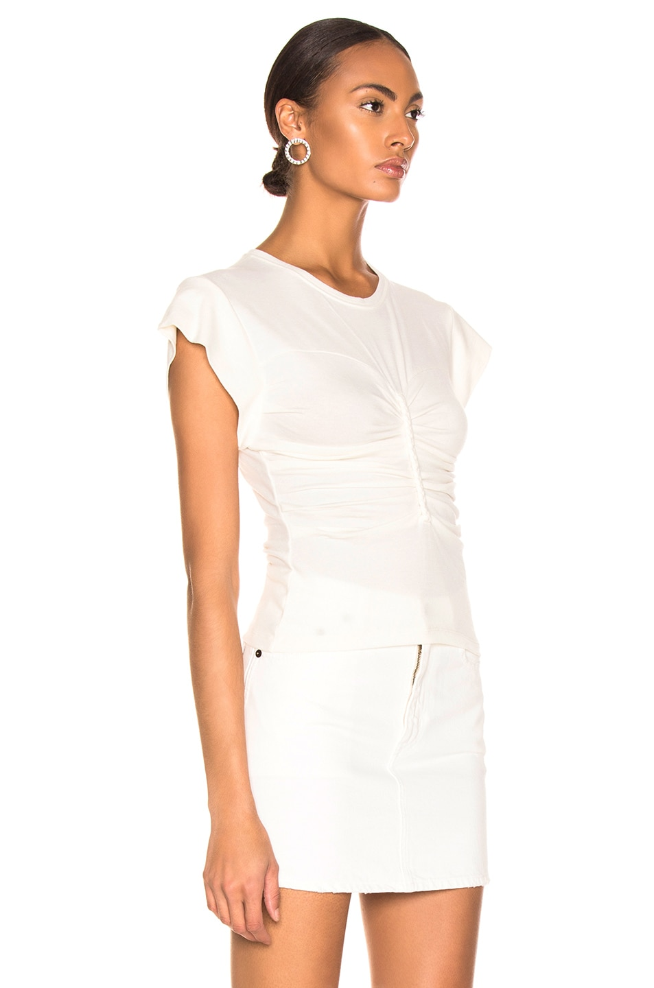 Image 2 of IRO Nippy Top in White