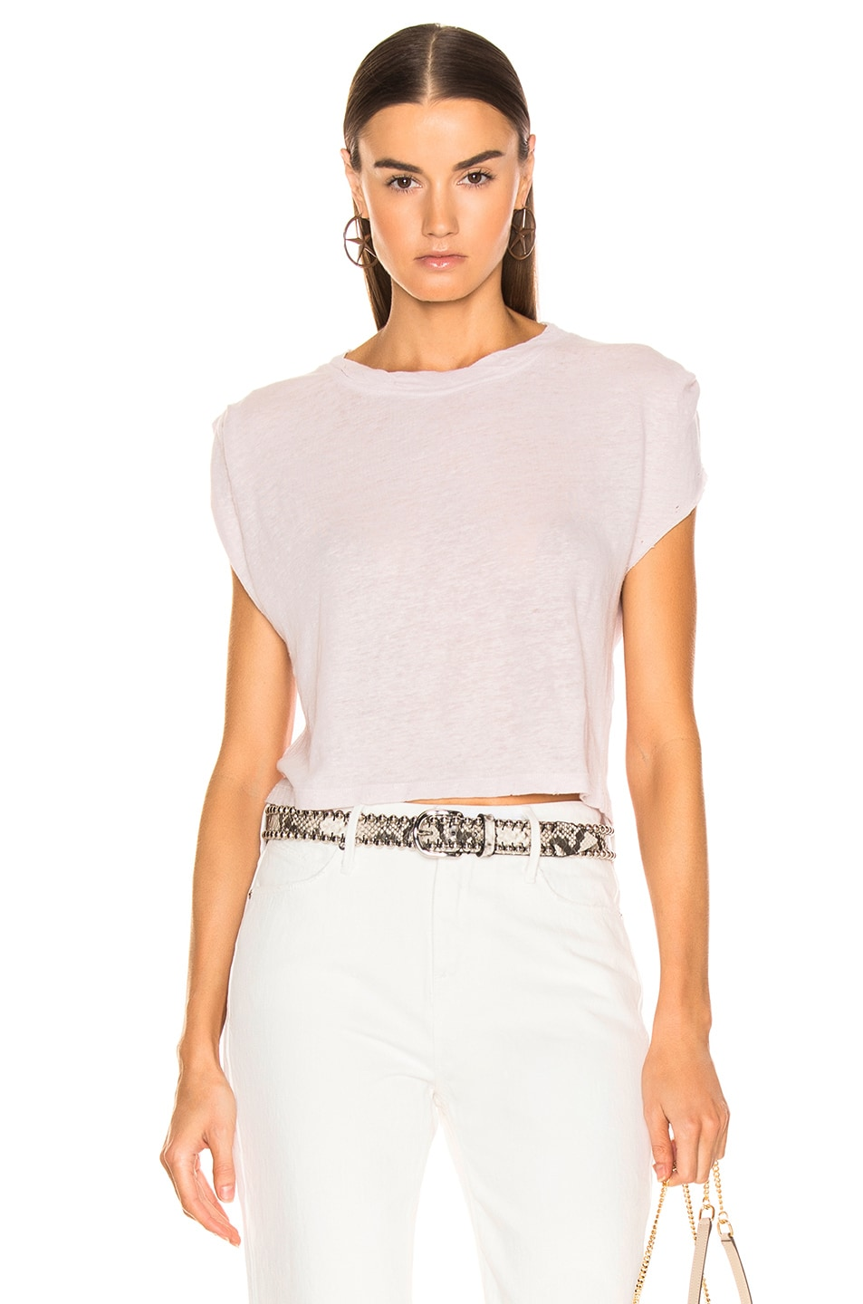Image 1 of IRO Rugged Top in Blush Pink