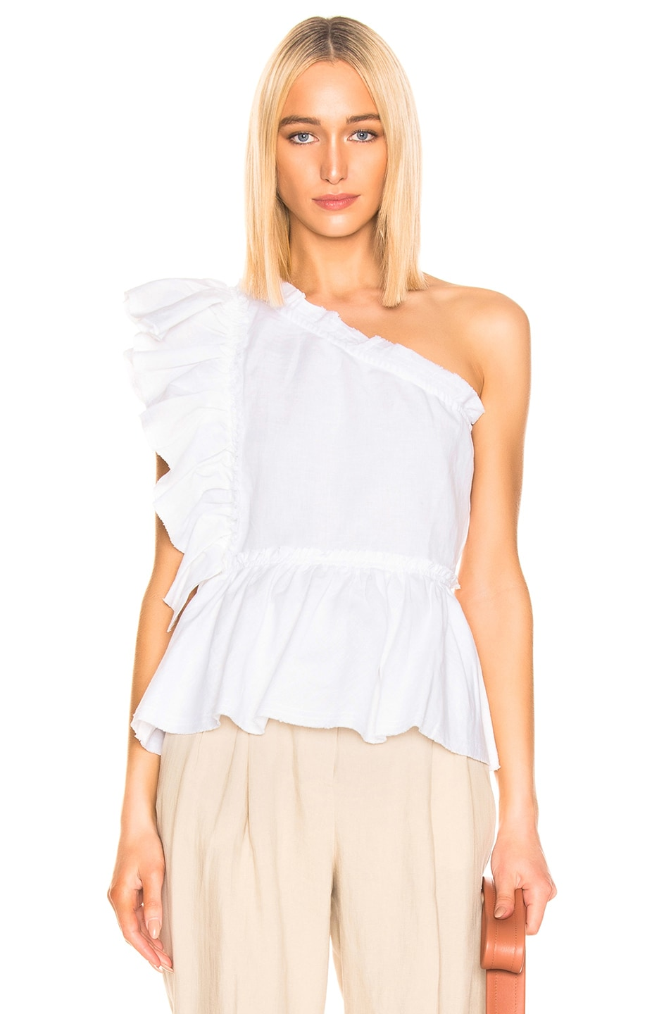 Image 1 of IRO Plum Top in White