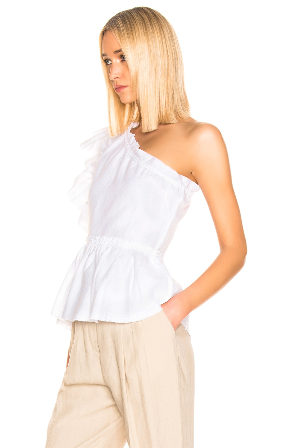 Image 3 of IRO Plum Top in White