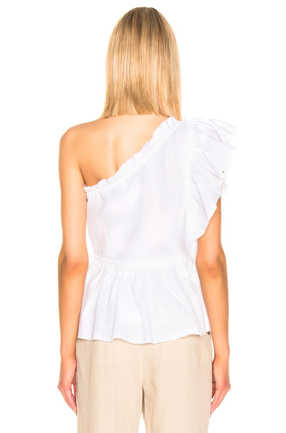 Image 4 of IRO Plum Top in White