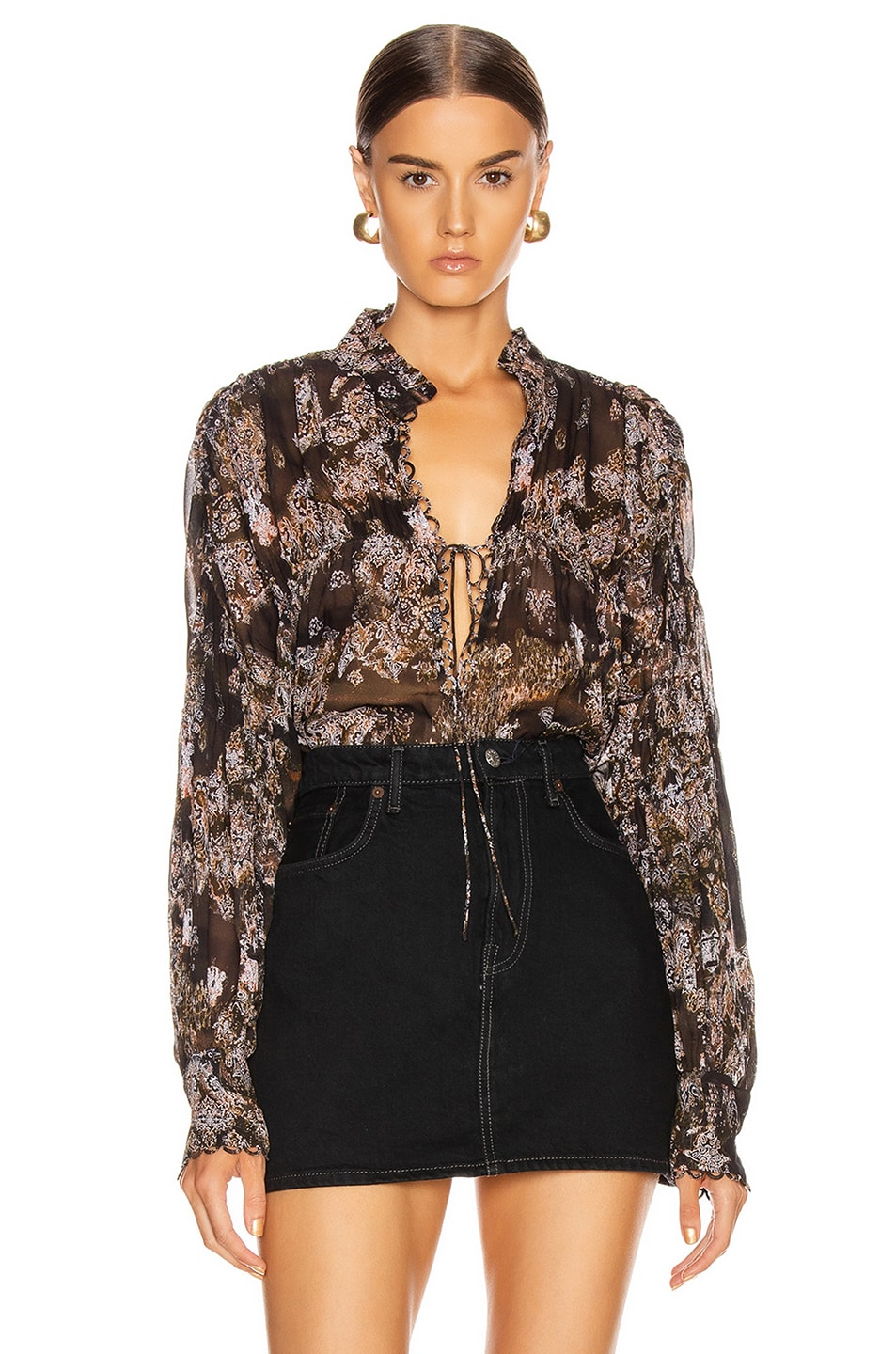 Image 1 of IRO Sianna Blouse in Black