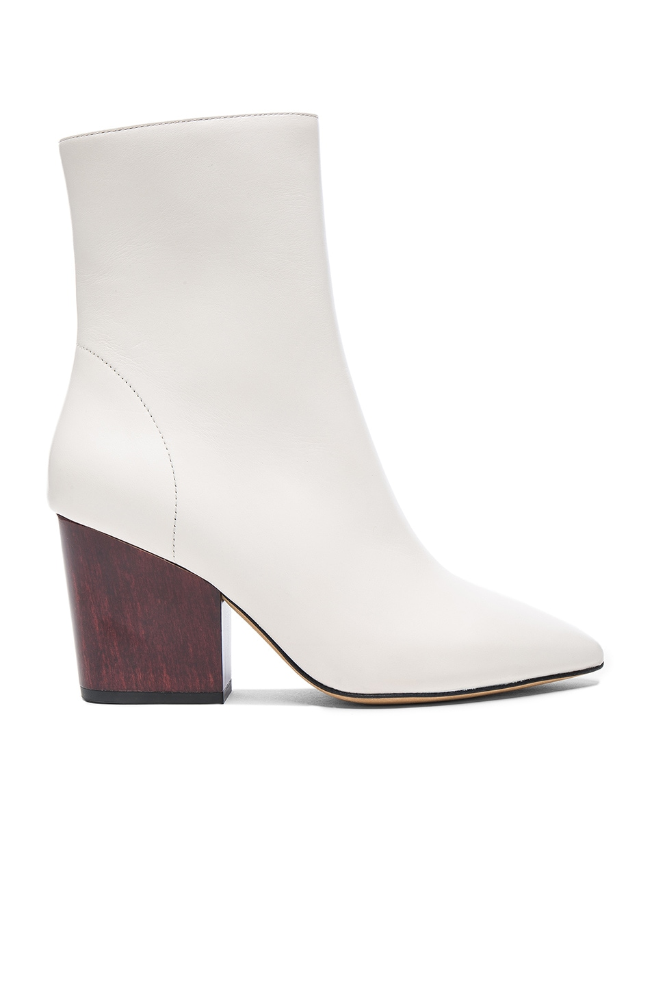 Image 1 of IRO Leather Ameliss Booties in Off White