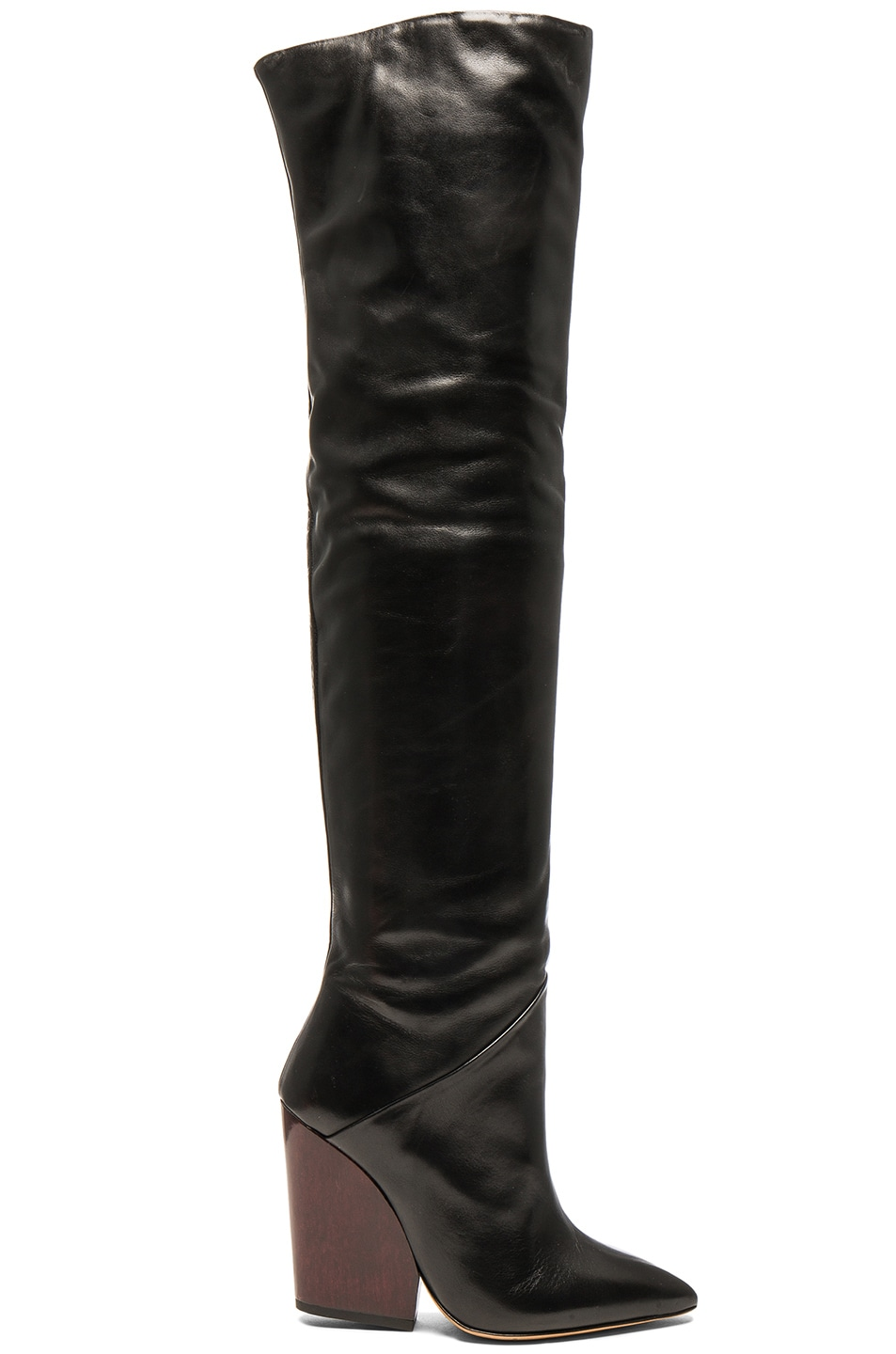 Image 1 of IRO Leather Evina Boots in Black