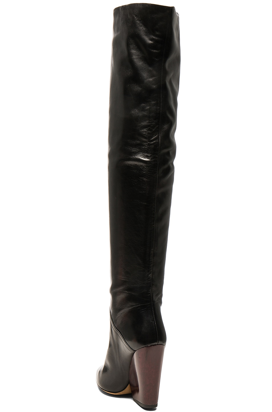 Image 3 of IRO Leather Evina Boots in Black