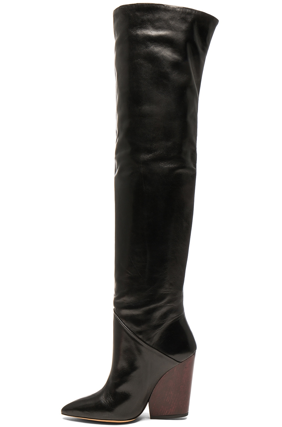Image 5 of IRO Leather Evina Boots in Black