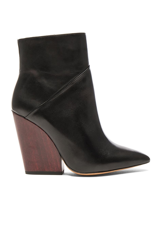 Image 1 of IRO Leather Lasdia Booties in Black