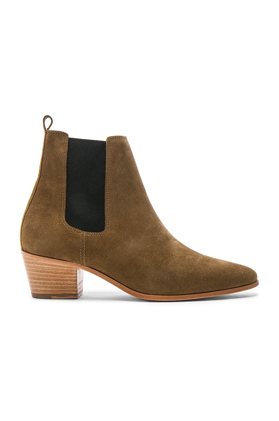 Image 1 of IRO Suede Yvette Boots in Khaki
