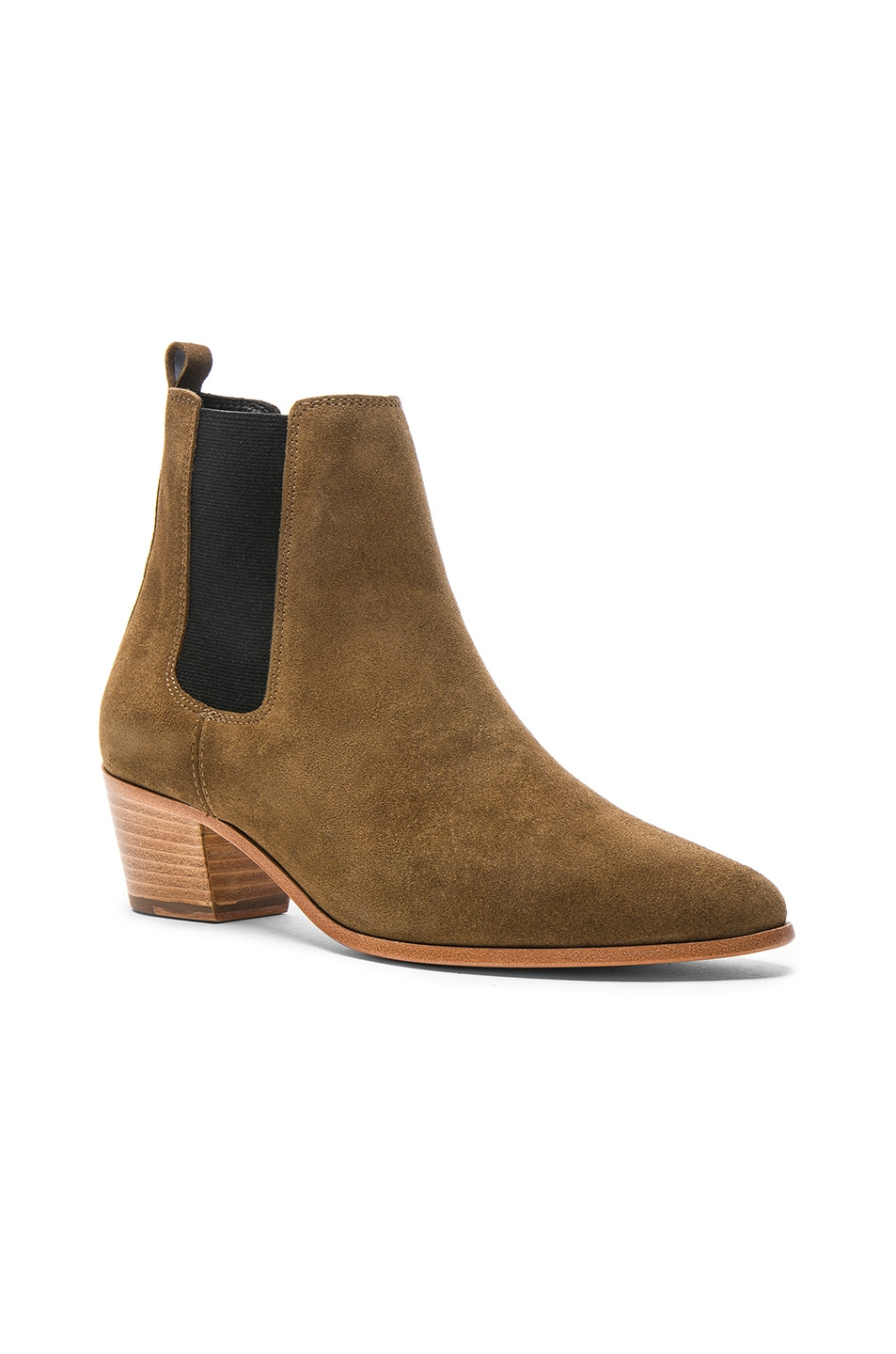 Image 2 of IRO Suede Yvette Boots in Khaki