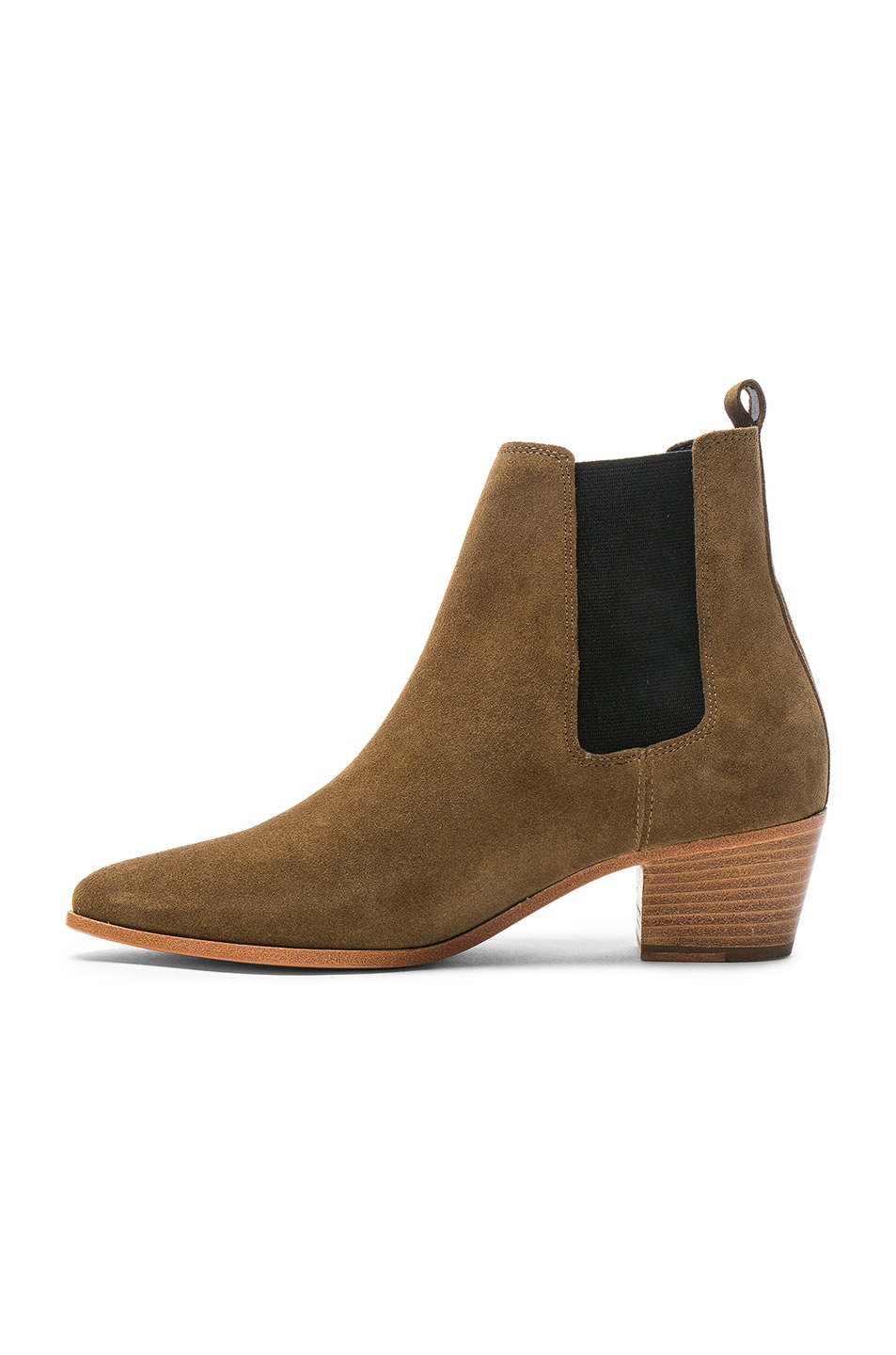 Image 5 of IRO Suede Yvette Boots in Khaki