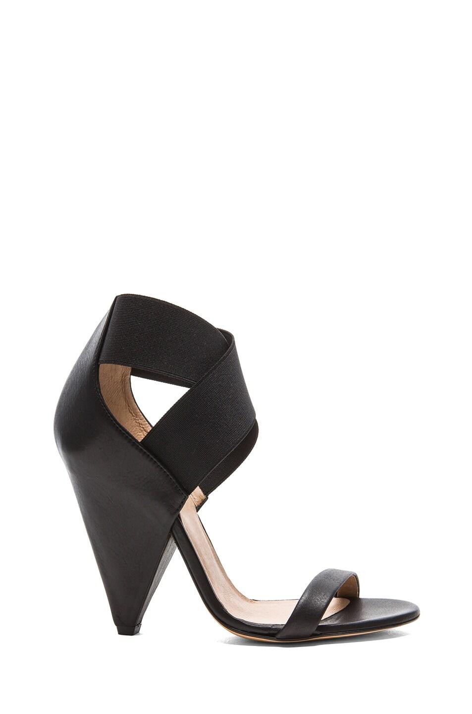 Image 1 of IRO Sohak Leather Heels in Black