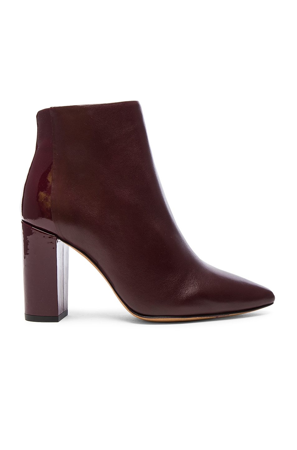 Image 1 of IRO Leather Lavia Booties in Burgundy