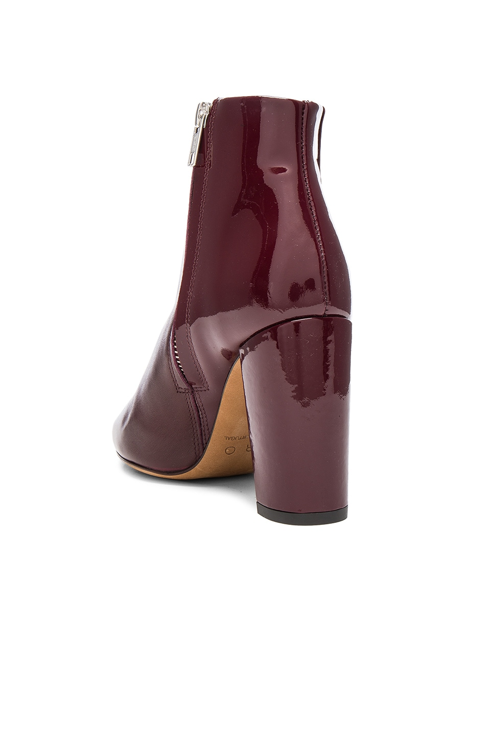 Image 3 of IRO Leather Lavia Booties in Burgundy