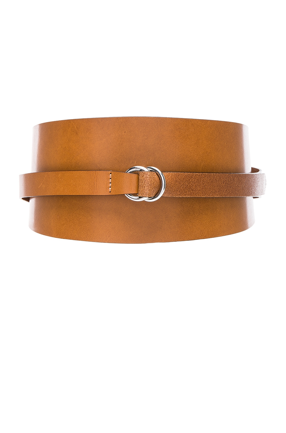 Cajou Leather Waist Belt, Brown