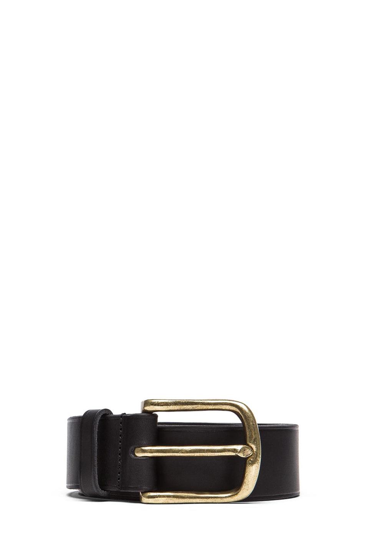 Image 1 of Isabel Marant Clayne Leather Belt in Black & Brass