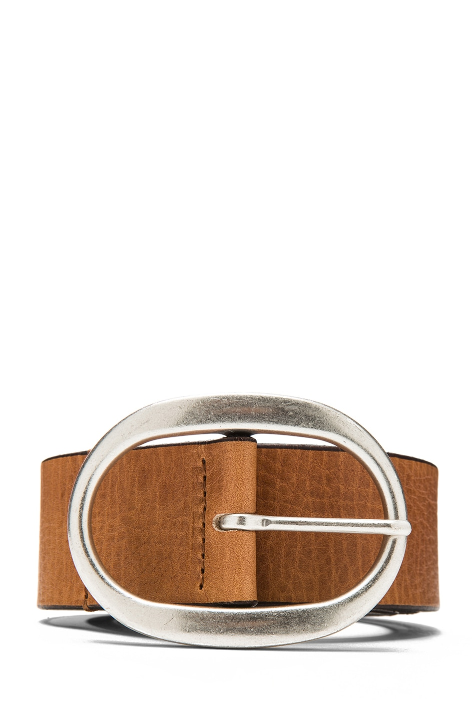 Image 1 of Isabel Marant Celia Calfskin Leather Belt in Natural & Silver