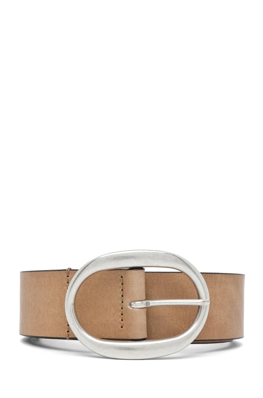 Image 1 of Isabel Marant Celia Leather Belt in Camel Argent